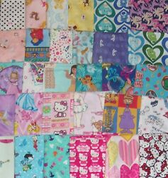 12 YARD PRE-CUT Disney Princess Hearts Hello Kitty Flinstone Cotton Fabric $5.95