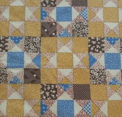 Spring Double Wide CALICO CHEATER QUILT Variable Star Cotton Fabric 72quot;W x 2 Yds $19.95