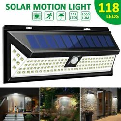 118 LED Solar Power Light PIR Motion Sensor Outdoor Garden Wall Lamp $27.95