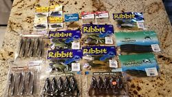 Large Lot Of Plastic Fishing Worms Artificial Bait Frogs Etc Fishing Lures $49.95