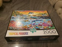 Tropical Paradise Adrian Chesterman Art 2000 PC Puzzle Brand New Buffalo Games