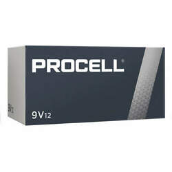 CASE 12 NEW DURACELL PROCELL 9V 9 VOLT Alkaline Batteries EXP in 2024 or Later $17.65