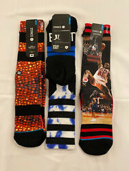 STANCE MEN#x27;S ATHLETIC SOCKS SIZE LARGE 9 12 3 For The Price Of One Sock $15.00