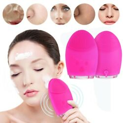Electric Super Soft Silicone Clean Facial Cleansing Brush Face Washing Machine $9.92