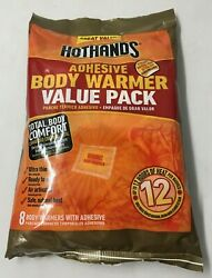 Hothands Adhesive Body Warmers Value 8 Pack w 12 Hr Heat EXP 32023    $9.99