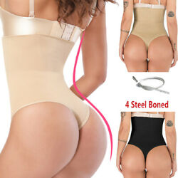 Fajas Colombianas Women High Waist Thong Shaper Panty G-String Push Up Butt Lift $10.79