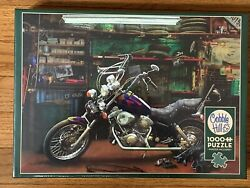 Cobble Hill CHOPPER motorcycle 1000 piece puzzle NEW IN BOX Made in USA $19.99