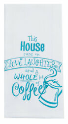 Love Laughter and a Whole Lot of Coffee Kitchen Dish Krinkle Flour Sack Towel $12.39