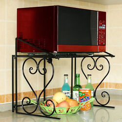 Metal Shelf Microwave Oven Rack Kitchen Organizer Counter Cabinet Storage Sturdy $24.99