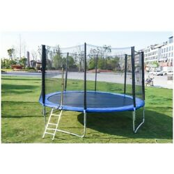 16ft-6ft Trampoline Large Outdoor Playground Elastic Jumpy Exercise AdultChild