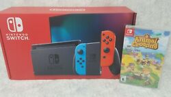 Nintendo Switch 32GB Console w Neon Blue & Neon Red + Animal Crossing Game $449.99