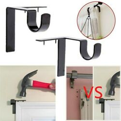Single Hang Curtain Rod Holders Bracket Into Window Frame Curtain Rod Bracket $5.99