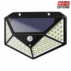100 LED Solar Power PIR Motion Sensor Wall Light Outdoor Garden Lamp Waterproof $8.99