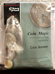 Coin Bomber by Johnny Wong Magic - Kennedy Half Dollar - DVD Autographed! $249.95
