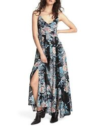 Free People Intimately Womens Through The Vine Floral Maxi Dress XS $42.00