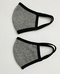 2PCS Reusable Face Masks - Dark Grey- Triple Layers - Made in USA $12.90