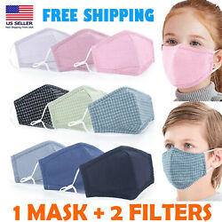 Kids Cotton Face Mask Reusable Washable outdoor Fabric Cover Child boys girls $9.99