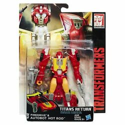Transformers Generations Titans Return Deluxe Firedrive & Autobot Hot Rod Wave 3 $17.95