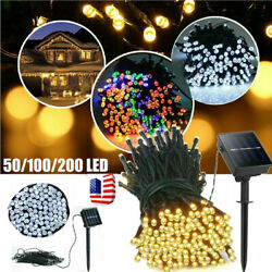 USA 50-200 LED Solar String Lights Waterproof Copper Wire Fairy Outdoor Garden $10.99