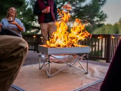 OPEN BOX POP UP Portable Fire Pit With Heat Shield For Camping amp; Backyards $75.00