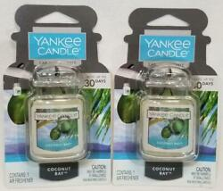 Yankee Candle Ultimate Car Jar COCONUT BAY Air Fresheners Odor Eliminate Lot 2 $9.97