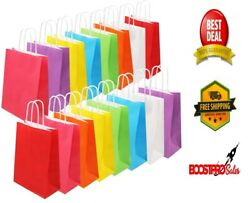 PAPER BAGS 8 Colors Party Favor 32 Pieces Colored Kraft Candy Bags with Handle $19.55