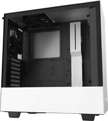 NZXT H510 Compact ATX Mid Tower Case with Tempered Glass Matte White $74.99