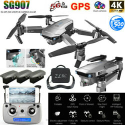 SG907 5G WIFI GPS With 4K Dual HD FPV Camera Quadcopter! Drone x pro 2.4G Drone $44.29