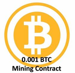 Mining Contract 4 Hours (Bitcoin) Processing Speed (THs) Guaranteed 0.001 BTC $13.49