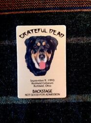 Grateful Dead Backstage Pass 991993 Richfield OH - Bernese Mountain Dog