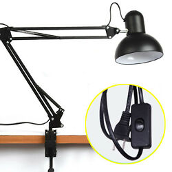 Flexible LED Desk Lamp Metal Swing Arm Mount Clamp Table Light Adjustable Lamp $25.98