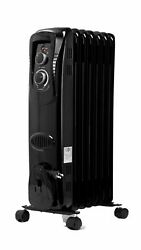 Mainstays Oil Filled Electric Radiator Radiant Space Heater Black USA SELLER $37.95