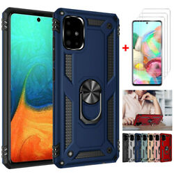 For Samsung Galaxy A51 A71 Stand Hard Shockproof Cover Case+HD Screen Protector $5.96