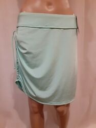 Athleta Pull On Power To The She Workout Skirt Aqua Size M NWT
