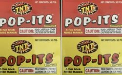 4 Pks Of 50 =200 TNT PARTY POP-ITS Snaps Snappers Birthday Celebrations 4th July $7.99