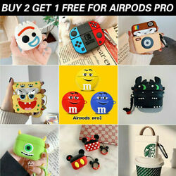 AirPods Pro Case Silicone Cover 3D Cartoon Novelty Protective for Apple Airpod 3 $7.99