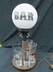 VTG 70's Back BAR Motion Lamp w Glasses Bud & Jack She Shed Man Cave MCM