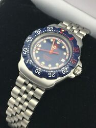 Tag Heuer 200 Meters WA1410 Professional Watch Womens BLUE RED 27MM