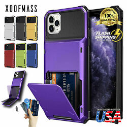 For iPhone 11 Pro MAX XR 8 7 Wallet ID Slot Credit Cards Holder Drop Bumper Case $9.79