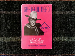 Grateful Dead Backstage Pass 361994 Phoenix AZ - John Wayne