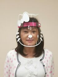 Safety Face Shield Clear Reusable Adjustable - Kitty Shield - US Seller $19.99