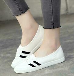 Canvas Loafers Womens student Flats lace ups shoes comfort teenager casual New $24.99