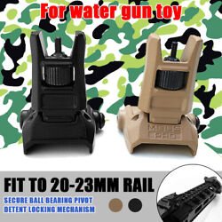 Low Profile Flip-up Sight Metal Folding Iron Sights Tactical Front and Rear Set $10.99
