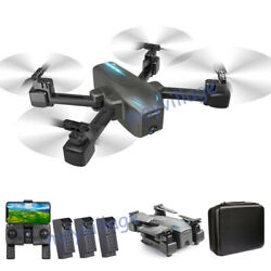 Selfie Drone 4K GPS HD Dual Camera 5G Foldable Aircraft RC Quadcopter 3 Battery $119.00