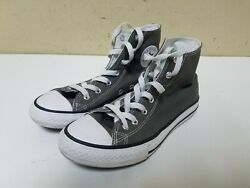 CONVERSE ALL STAR FOR KID US SIZE 3 PRE OWNED CHARCOAL GREY VERY NICE $19.99