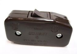 Cord Switch BROWN - UL Listed - Leviton Brand - Inline Cord Switch - Lamp Switch $3.75