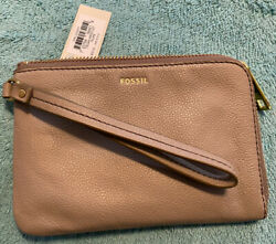 NWT Fossil Tiegan Leather Wristlet Small $15.99