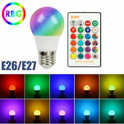 RGB RGBW LED Bulb Light 16 Color Changing E27 Lamp IR Remote Controller Dimmable $6.33