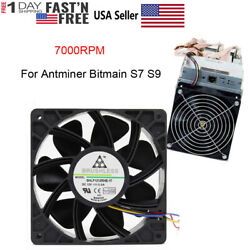 7500RPM Cooling Fan Replacement 4-Pin Connector For Antminer Bitmain S7 S9 USA $14.91