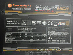 THERMALTAKE ATX 12V SP 650P SP 650AH2NCB A 650W PS TESTED $85.00